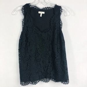 Joie | Cina Black Lace Tank Top in Black